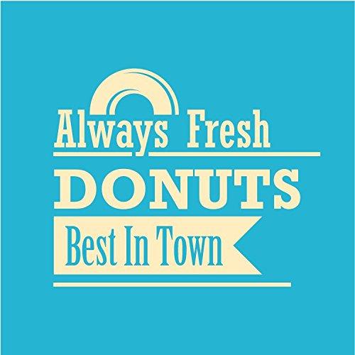 Donuts Best In Town Square Hochwertigen Auto-Autoaufkleber 12 x 12 cm