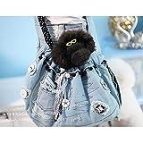 ETH Pet Sling Carrier, Bolsa De Algodón con Un Solo Hombro para Mascotas Bolsa De Pecho con Un Solo Hombro para Perros Y Gatos Bolsa De Crossbody De Viaje Mochila De Mezclilla para Mascotas Durable