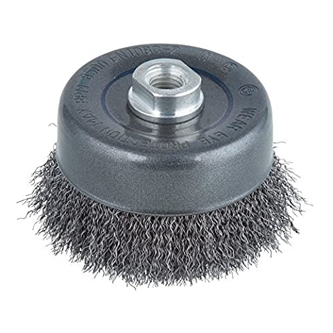 wolfcraft wire cup brush ? 100 mm, thread M 14, angle grinder, 2151000 by W/CRAFT