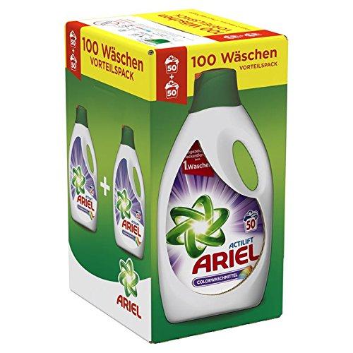 Ariel Colorwaschmittel Flüssig, 1er Pack (1 x 100 Waschladungen)
