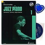 Jazz Piano 1-Das standard di Tim Richards-Nozioni di base di jazz e Blues Piano, Armonie, tecnica e Improvvisazione-Klaviernoten con CD e colorata herzfoermiger Note KLAMMER