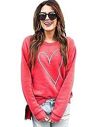 Sudaderas Mujer Jersey Verano Otoño Camisetas de Manga Larga Camisas Bordado Liso Blusas Verano Casual Cuello