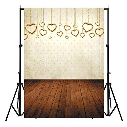 Werse 7x5ft Vinyl Valentinstag Herz Boden Fotografie Hintergrund Studio Hintergrund Foto Prop -