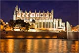 Poster 90 x 60 cm: Kathedrale von Palma de Mallorca bei