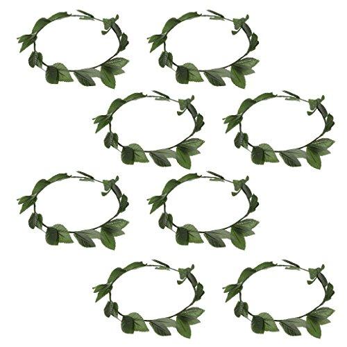 D DOLITY 8 Stücke Grün Blätter Römische Griechische Göttin Laurel Kranz Kostüm Stirnband