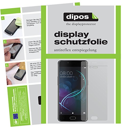 dipos I 2X Schutzfolie matt passend für Doogee Shoot 1 Folie Bildschirmschutzfolie