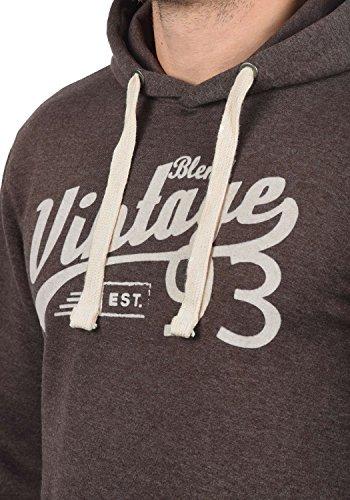 BLEND Vince Herren Kapuzenpullover Hoodie Sweatshirt mit optionalem Teddy-Futter aus hochwertiger Baumwollmischung Meliert Coffee Brown (75103)
