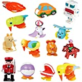 Ymiss 14pcs Wind Up Assorted Toys For Kids Gift And Adults Played In Office Table