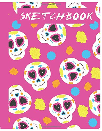 ll Sketchbook for Adults/Children to Sketching, Whiting, Drawing, Journaling and Doodling, Large (8.5x11 Inch. 21.59x27.94 cm.) 120 Blank Pages (WHITE&PINK&BLUE&YELLOW Pattern) ()