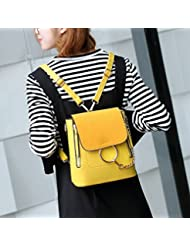 Mujeres moda Hombro diagonal bolsa de Hombro cruzada con Multi-Purpose Bucket handbags amarillo
