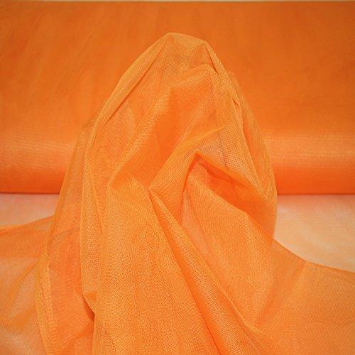 Stoff-Kollektion Tüll 2 Meter Zum Nähen, Basteln, Dekorieren 150 cm Breit (Orange)