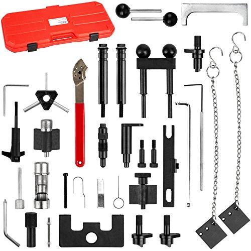TecTake Zahnriemen Werkzeug Set - geeignet für viele Fahrzeugtypen - inkl. Koffer