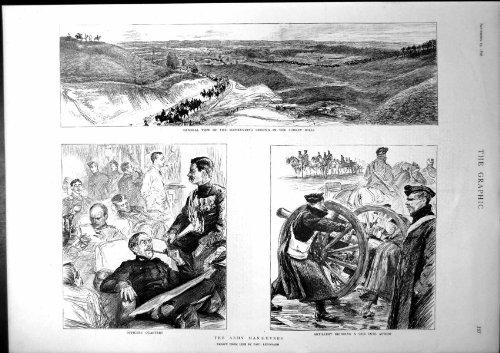 Armee Manövriert Offizier-Viertel-Artillerie-Gewehr-Vorgang 1896