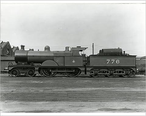 Photographic Print of Midland Railway Class 3, 4-4-0 steam locomotive number 776