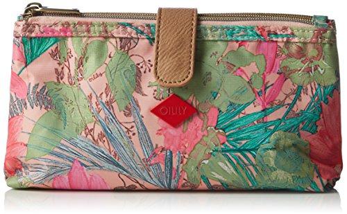 Oilily FF Double Flat Cosmetic Bag, Nécessaire Femme - Rose - Pink (Melon 107), 23x12x5 cm (B x H x T)