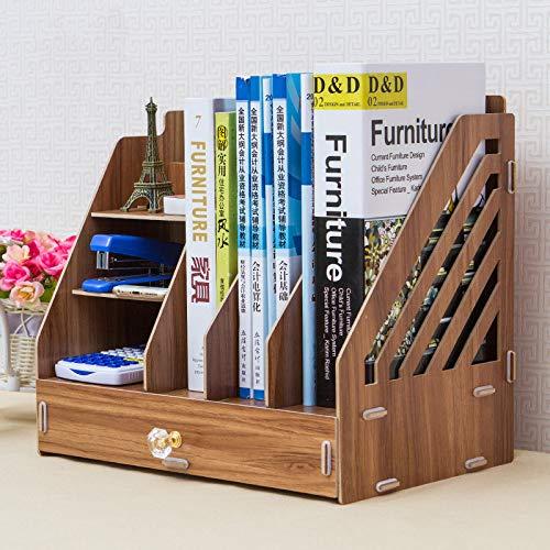 WYYWYF Desktop Storage Box Datei Bücher Dokumente aus Holz Schublade Bücherregal (Datei Schublade Bücherregal)