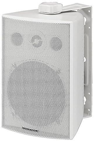 Monacor 30w max 100v intempéries ap mur haut-parleurs