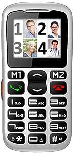 Inovalley GSM 19 Téléphone portable débloqué 2G (Ecran: 1,8 pouces - 128 Mo - Simple SIM) Argent