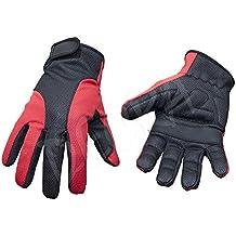 Radfahren volle Finger-Handschuhe Warm Windstoper exzellente Griffigkeit durch Deckra (groß / X groß)
