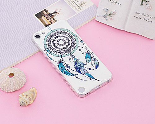 Cover iPod Touch 5 / 6 Generation ,Custodia iPod Touch 5 / 6 Generation,Cozy Hut Ultra Sottile Custodia Nottilucenti Luminoso Gel Silicone per iPod Touch 5 / 6 Generation , Ultra Slim Anti Slip Fluore Spirale Campanula