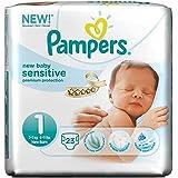 Pampers New Baby Sensitive Taille 1 2-5kg nouveau-né (23) - Paquet de 6