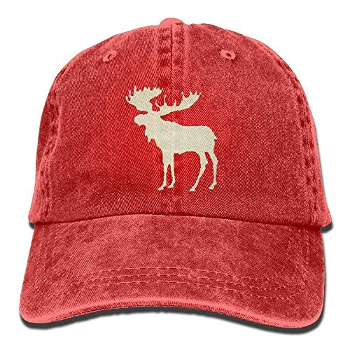 Osmykqe Baseball Caps Plaid Moose Buffalo Denim Comfort Visor Hip Hop Cap Dad Hat GH625 Plaid Wool Cap