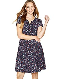 c40273d3 Mantaray Womens Navy Heart Print Knee Length Skater Dress