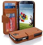 Samsung Galaxy S4 Hülle in BRAUN von Cadorabo - Handy-Hülle mit 3 Kartenfächer und Standfunktion für Galaxy S4 Case Cover Schutz-hülle Etui Tasche Book Klapp Style in COGNAC-BRAUN