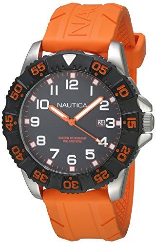 nautica-a12641g-montre-homme-quartz-analogique-cadran-noir-bracelet-silicone-orange