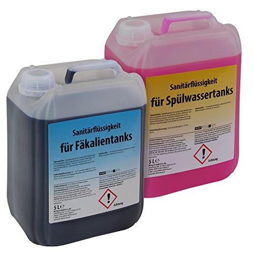 BB Sport Set 2 x 5 Liter Sanitärflüssigkeit für Campingtoiletten Chemietoiletten-Zusatz für Frisch- und Abwassertank