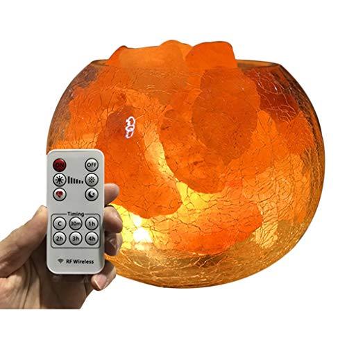 Wyl lampada di sale himalaya,led crystal rock light,purificazione dell'aria,alleviare lo stress,completamente naturale e realizzata a mano,per regali a casa o in ufficio
