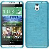 Coque en Silicone pour HTC Desire 610 - brushed bleu - Cover PhoneNatic Cubierta + films de protection