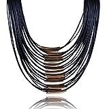 Saoirse Damen Quaste Halskette Lederkette Weihnachtsgeschenk Halskette