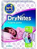 Huggies Dry Nites Pyjama Pants Jumbo Girl 4-7 ans 17-30 kg x 16 Couches
