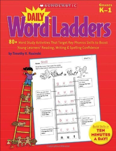 Daily Word Ladders: Grades 4?6: 100 Reproducible Word Study Lessons That Help Kids Boost Reading, Vocabulary, Spelling & Phonics Skills?Independently! by Rasinski, Timothy (2005) Paperback