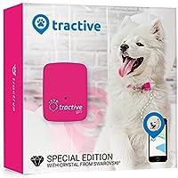 Tractive Rastreador GPS de mascotas edición especial, color rosa