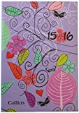 Collins Enchanted A5 Day To a Page 2015/2016 Mid Year Diary - Lilac