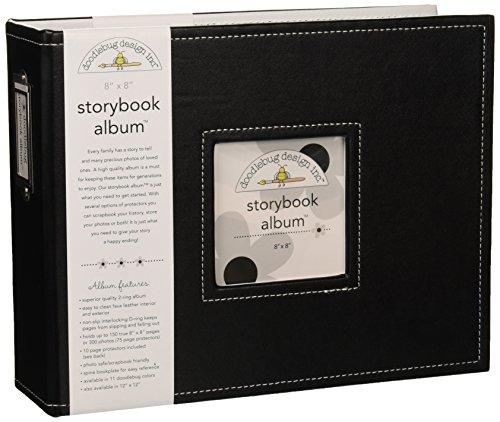 Albums Alben 20,3x 20,3cm Doodlebug Designs Storybook, Beetle Schwarz - Doodlebug Doodlebug Design Album