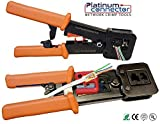 Pass Through RJ45 Professional Heavy Duty Crimp Tool (for Internet network connector)- Platinum Connector