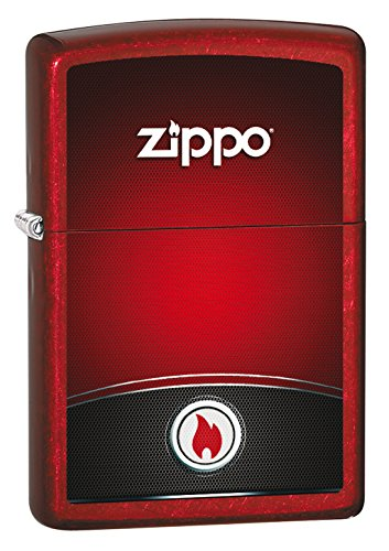 Zippo and Black Design-Candy Apple Red-Spring 2017 Feuerzeug, Chrom, rot, One Size Red Apple Design