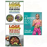 4-Week body blitz, low carb diet, keto diet 3 books collection set