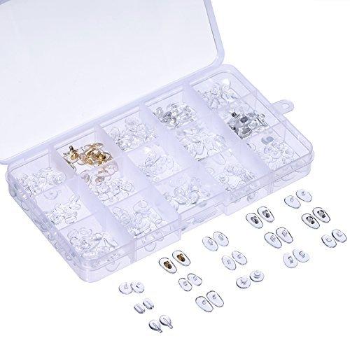 15 Stil Nase Pads Set 150 Paare Ultraweich PVC Nasenpads für Brillen Sonnenbrillen mit Aufbewahrungsbox