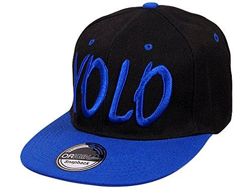 Cappy Baseballcap YOLO Hip Hop Schirmmütze Mütze Käppi Schwarz Blau Streetware