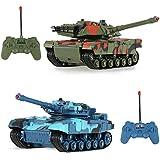 Goolsky CRAZON 333-TK11A 1/24 escala de dos infrarrojos de control remoto de combate de tanques de juguetes para niños