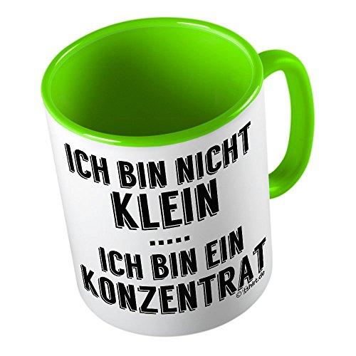 Ich bin nicht klein Ich bin ein Konzentrat ★ lustige Tasse - Kaffeetasse - Kaffee-Pott ★ hochwertig bedruckt mit lustigem Spruch ★ Die perfekte Geschenk-Idee (T-shirts Freundin Lustige)