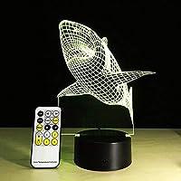 JJZXD Night Light - 3D Night Light Toys Gifts Decorative LED Bedside Desk Table Lamp 3D Illusion Light - USB Power/7 Colors Changing