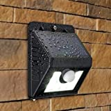 #5: Godspeed Solar Lights for Home,Garden & Outdoors 4 LED Motion Sensor Street Lights with Upgraded Solar Panel, IP65 Waterproof Solar Powered Lamps for Security