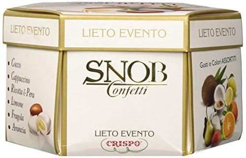Crispo confetti snob lieto evento - gusti e colori assortiti - 4 confezioni da 500 g [2 kg]