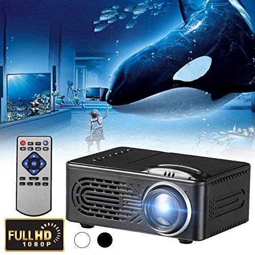 Cewaal G814 Mini LED Videoprojektor, 6000 Lumen Multimedia Heimkino Videoprojektor Unterstützung 1080 P USB SD Karte AV Heimkino TV Laptop Spiel iPhone Android Smartphone mit (6000 Lumen-led-projektor)