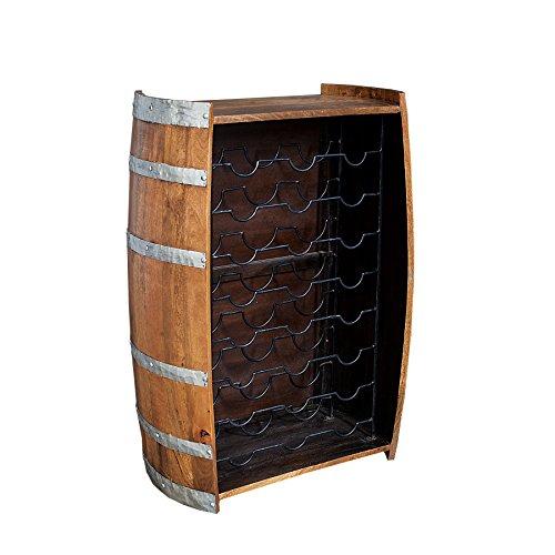 Einzigartiges Weinfass Stehtisch CASK für 24 Flaschen Bartisch Bartresen Tresen Weinregal Fass Weinflaschen